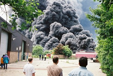 Business on fire